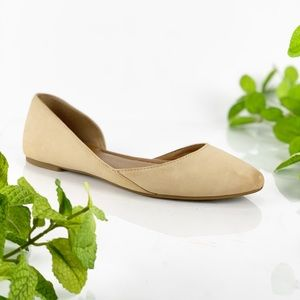 Lucky Brand Abia D'Orsay Flats in Beige Nude Tan